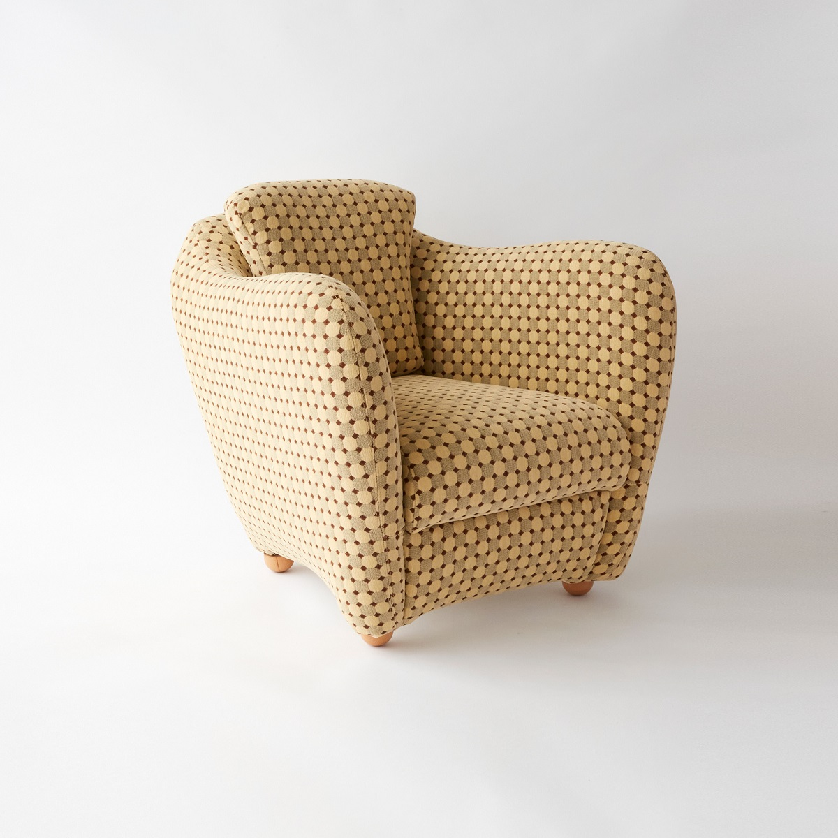 MINI MILLER ARM CHAIR MIRA BEIGE