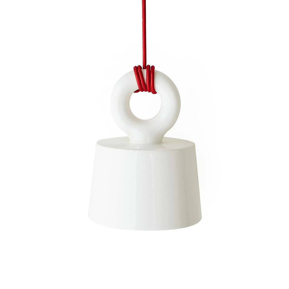 MOLLE SHADE CEILING LAMP<br>Red Cord